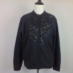 Vintage Hatais Cardigan Sweater Womens Medium